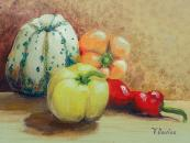 Peppers and Squash by Valerie Davies